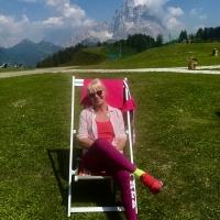 Paola Pierobon in montagna, Cima Fertazza 2080 slm