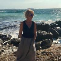 Paola Pierobon al mare, Costa Azzurra
