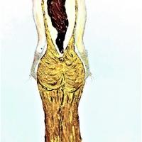 La donna col neo- Acrilico su tela 100×50 cm - Anno 2017