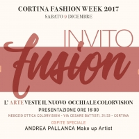 Fusion Art, Vision & Beauty - Cortina Fashion Week 2017 - l'invito