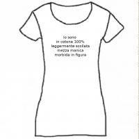 t-shirt scollo leggermente arrotondato, mezza manica, 100% cotone