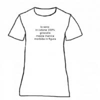 t-shirt girocollo , mezza manica, 100% cotone