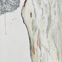 Il-dolore_20x40_carboncino-matite-surfinia-su-tela_Agosto-2020_origine-verticale