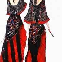 Carla & Antonella - acrilico su tela - cm 100x50