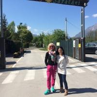 Campeggio Sarathei - Farra d'Alpago BL - Paola con Marina