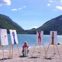 Paola, i suoi quadri e il lago di Santa Croce - Farra d'Alpago BL