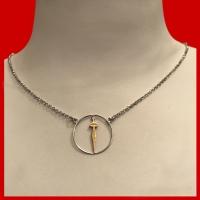 Collana girocollo  con cerchio centrale Silhouette in argento 925