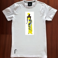 t-shirt Ritmo in giallo