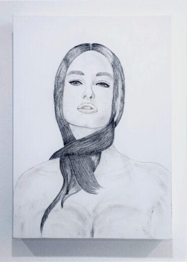 Athena_50x70_ matita e carboncino_Anno 2011
