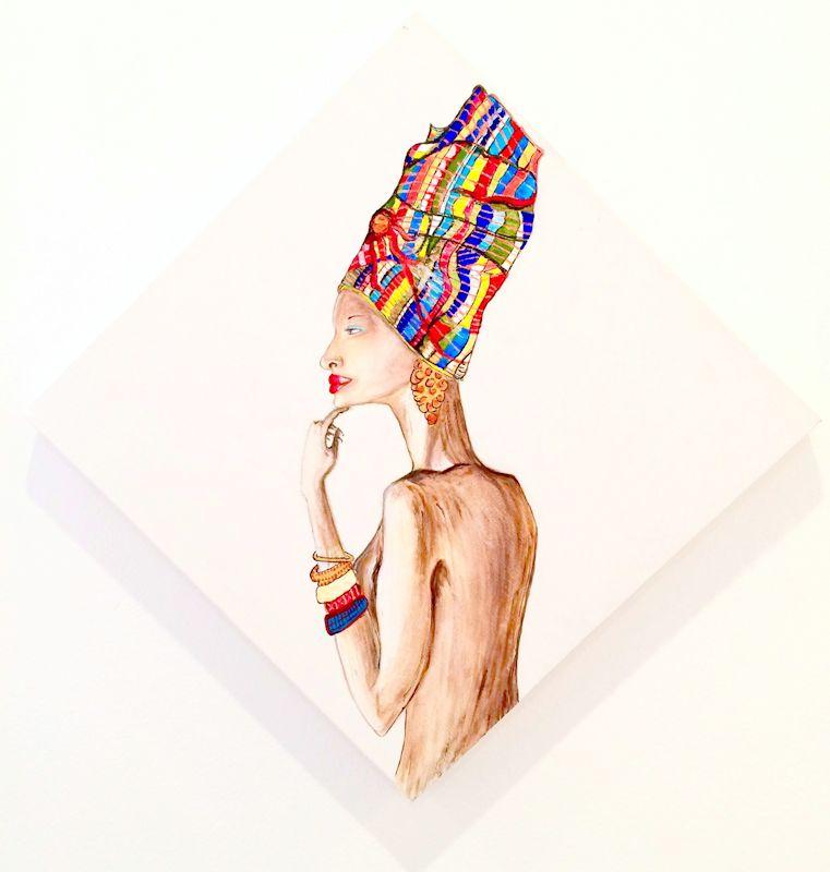 Dhuku - Acrilico su tela
