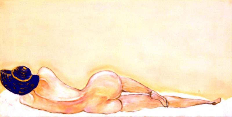Donna alla luna - Acrilico su tela