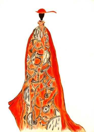 Duchessa in rosso - Acrilico su tela