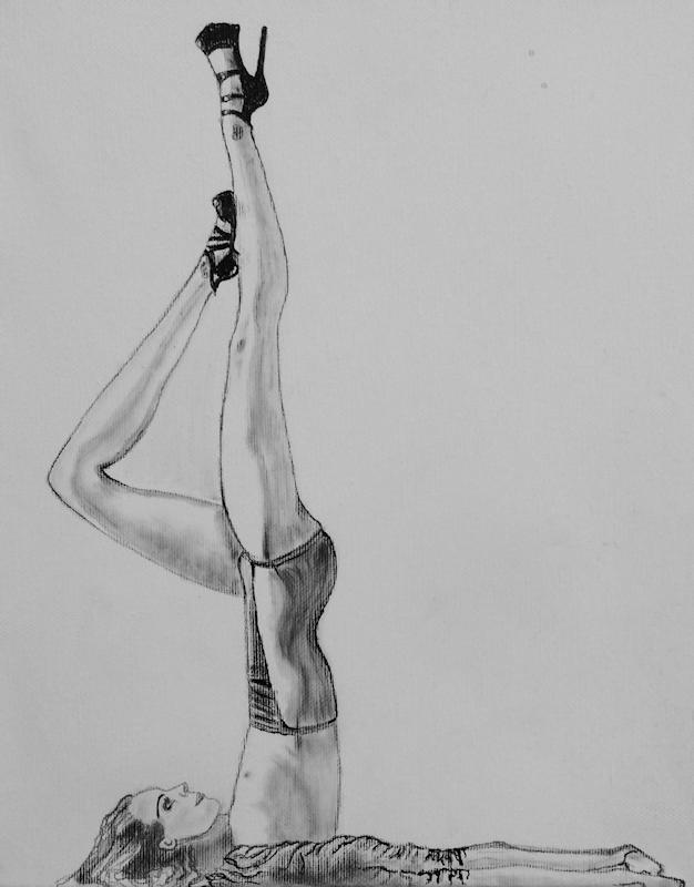 Natascha - Matita su tela