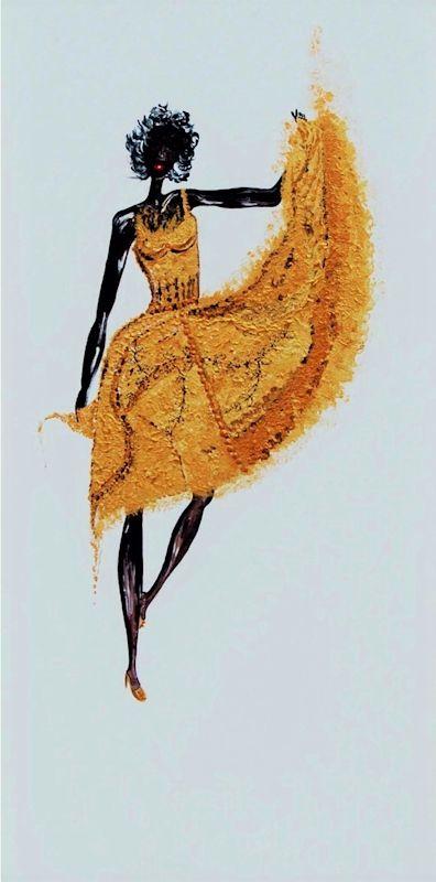 Oro in danza - Acrilico su tela