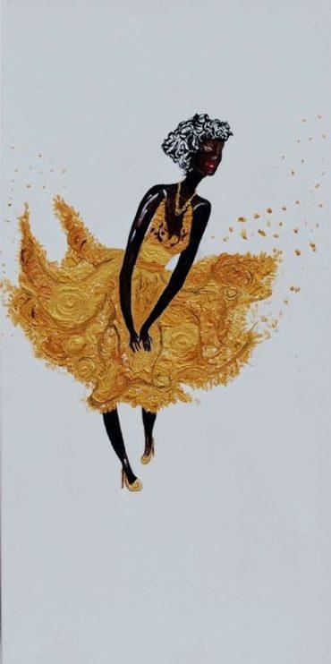 Oro in festa - Acrilico su tela