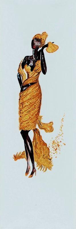Oro in mostra - Acrilico su tela