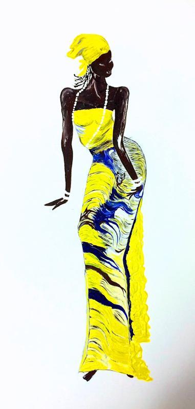 Ritmo in giallo - Acrilico su tela