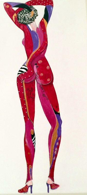 Rouge - Acrilico su tela
