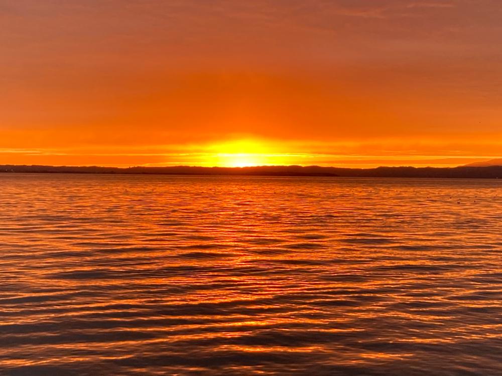 Lazise_tramonto sul lago di Garda